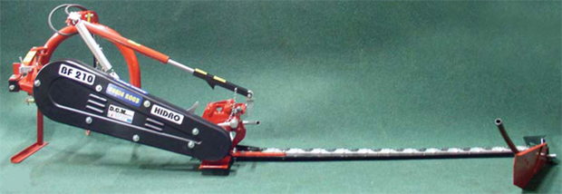Sickle bar mower with mechanical or hydraulical lift