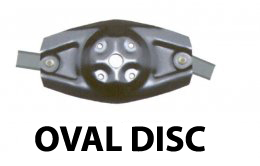 Disc mower Oval disc with 2 blades